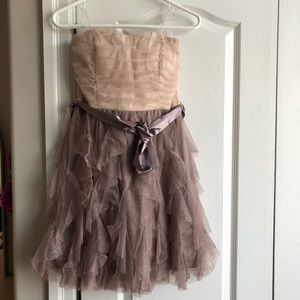 Sparkly Strapless Party Mini Dress